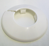 White Plastic 35mm Pipe Wall Flange Collar - Pack of 2 - 30000394